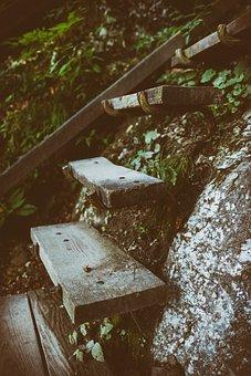 Stairs, Gradually, Stair Step, Head, Slope, Away