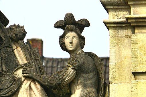 Castle, Lembeck, Stone Figure, More