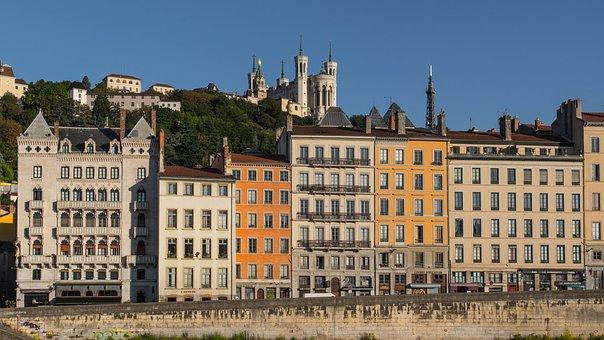 Lyon, St John, Wharf, Saone, Basilica, Fourvière