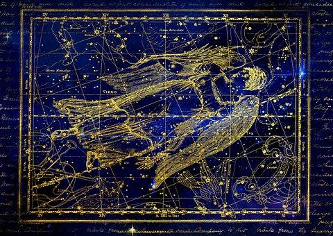 Constellation, Virgin, Zodiac Sign, Sky, Starry Sky