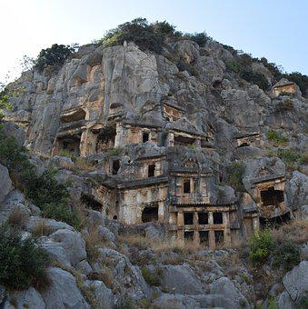 Myra, Cave, Ancient Times, Cemetery, Turkey, Tombs