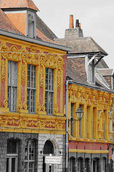 Lille, City, Old Lille, Street, Architecture
