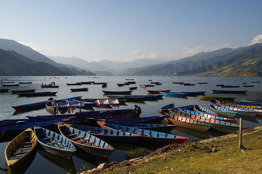 Lake, Boats, Pokhara, Nepal