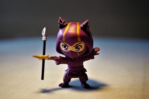 Toy, Small, Cute, Figurine, Ninja, Character, Child