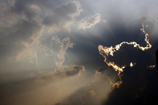 Cloud, Sunshine, Sky, Sunset, Landscape, Weather