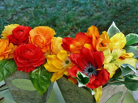 Faux Flowers, Feast In The Countryside, Bright Colors