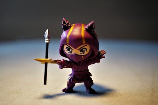 Toy, Small, Cute, Figurine, Ninja, Character, Child