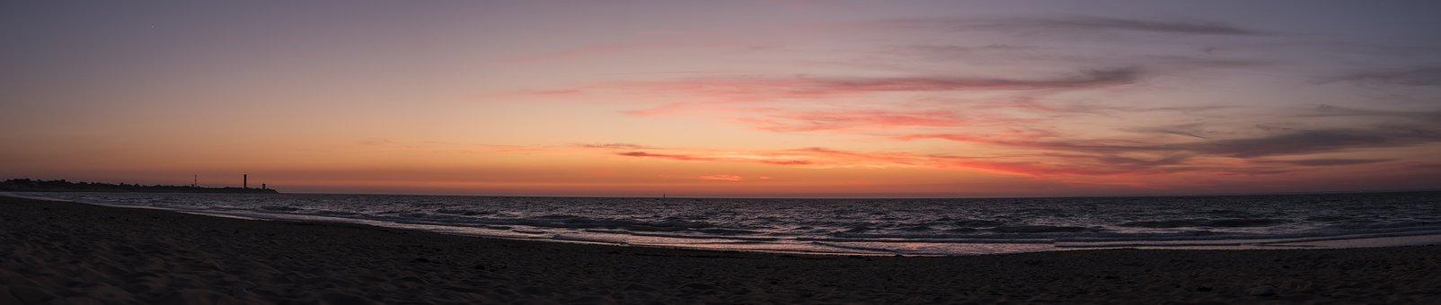 Il De Re, France, Beach, Sunset, Sea, Sand