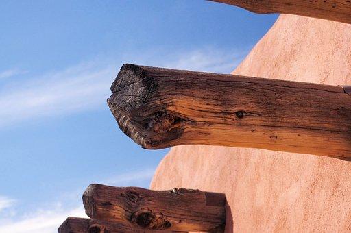 Painted Desert Inn Viga, Arizona, Inn, Building, Adobe
