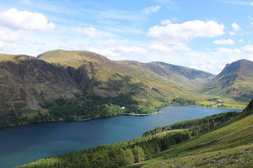 Lake, Mountains, Landscape, Hiking, Hills, Water