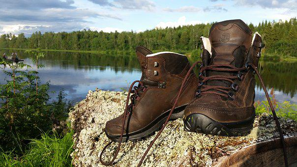 Walking Shoes, Nature, Outdoor, Sweden, Water, Green
