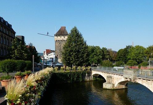 Esslingen, Neckar, Agnes Bridge, Ross Neckar Canal
