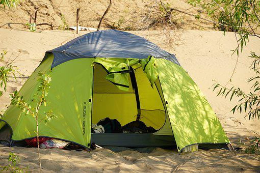 Beach, Sand, Tent, Vacation, Tourism, Travel, Camp