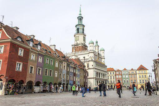 Poznan, Old Town Square, Old, City, Historic, Colors