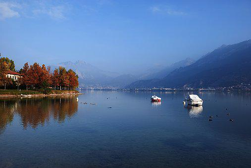 Lake, Lake Como, Italy, Landscape, Water, Autumn