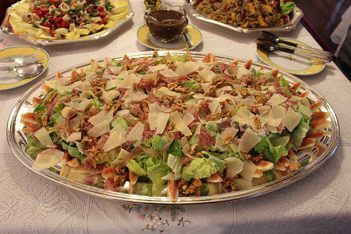 Salad, Lunch, Meal, Party, Silver, Travessa, Recipe