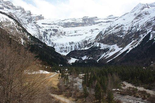 Gavarnie, Mountain, Circus, Snow, Landscape, Pyrenees
