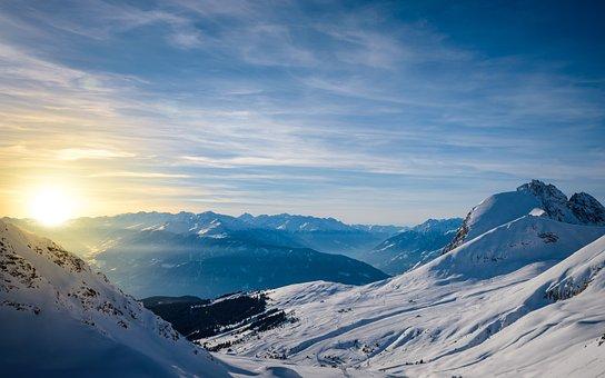 South Tyrol, Alpine, Italy, Snow, Panorama, Nature