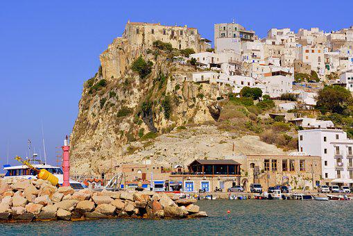 Scoglio, Houses, Landscape, City, Sea, Peschici