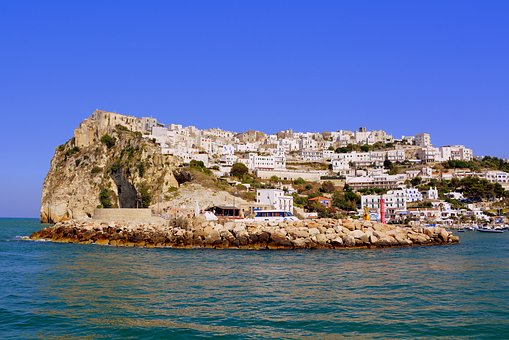 Landscape, City, Sea, Peschici, Gargano, Puglia