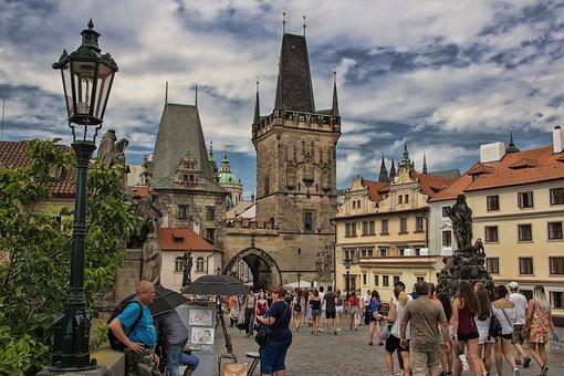 Prague, Czech, Malostranská Bridge Tower