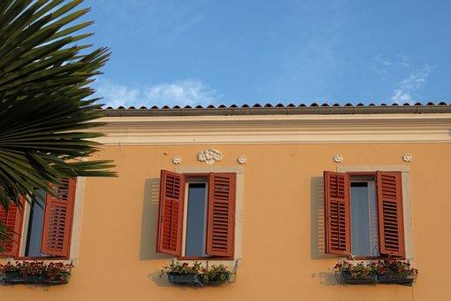 Window, Shutters, Vrsar, Croatia, House, Architecture