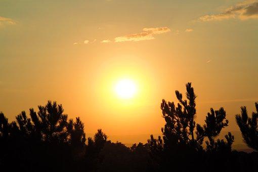 Sunset, Nature, Horizon, Sky, In The Evening, Solar
