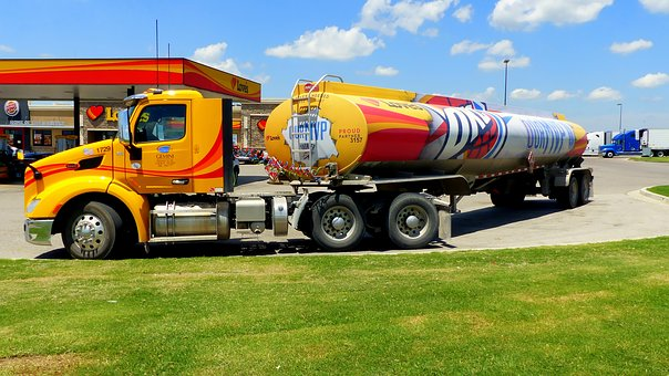 Truck, American, Transport, Tank, Trailer, Heavy