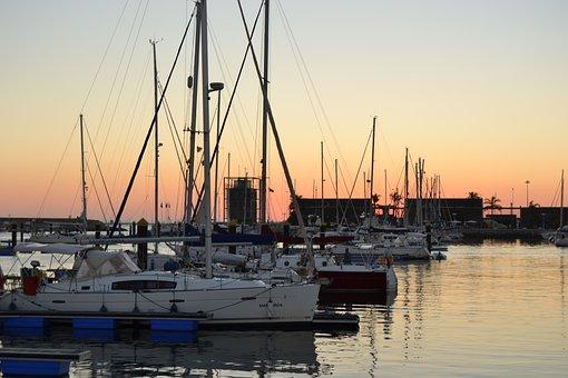 Mazagon, Port, Summer, Sunset, Sea, Boat, Travel