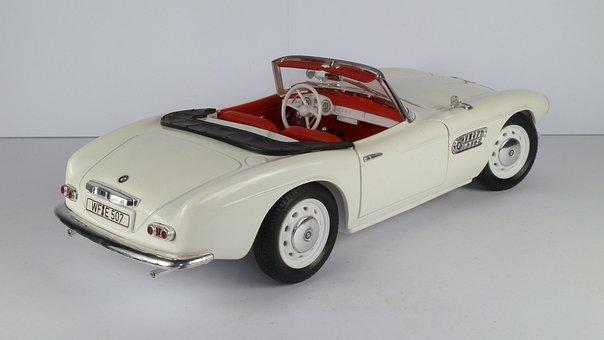 Bmw, 507, 1956, Cabrio, Convertible, 1x18, Model Car