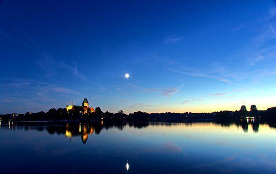 Ratzeburg, Lake, Dom, Northern Germany, Abendstimmung