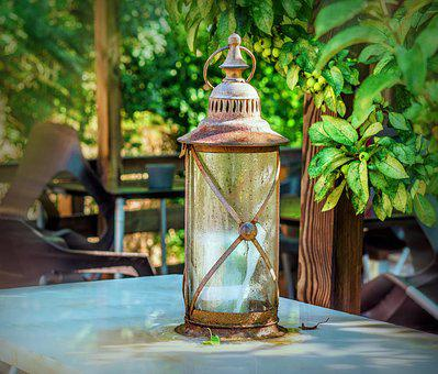 Candil, Old, Iron, Lantern, Decoration, Light, Antiques