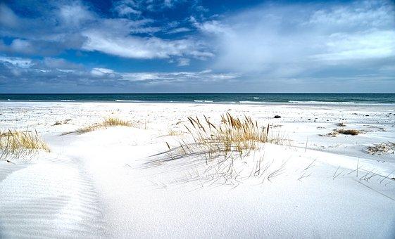 Denmark, Baltic Sea, Bornholm, Beach, Infinite Width