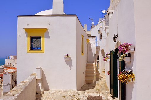 Houses, Picturesque, Alley, Peschici, Gargano, Puglia