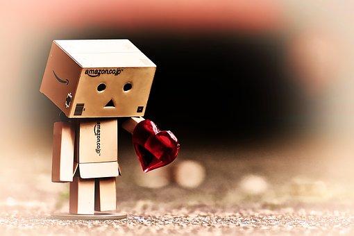 Danbo, Figure, Love, Longing, Miss, Heart, Separation