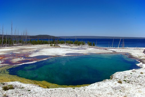 Abyss Pool, Thermal, Pool, Nature, Landscape, Water
