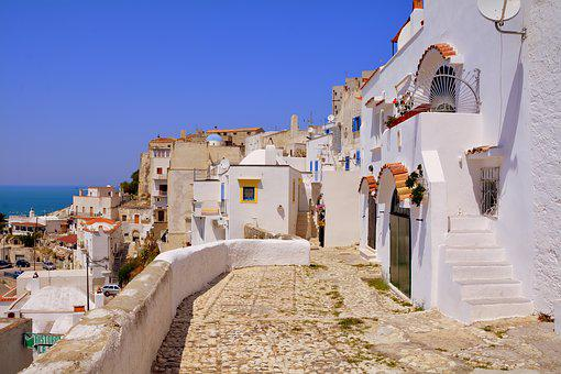 Houses, Alley, Picturesque, Peschici, Gargano, Puglia