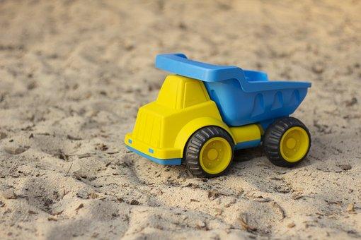 Toy, Truck, Transport, Children, Toys, Vehicle, Sand