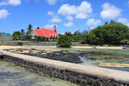 Cap Malheureux Church, Red Roof,, Mauritius, Maurice