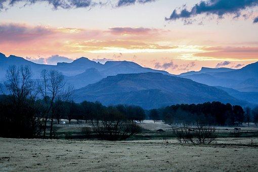 Sunset, Nature, Landscape, Dusk, Twilight, Mountains