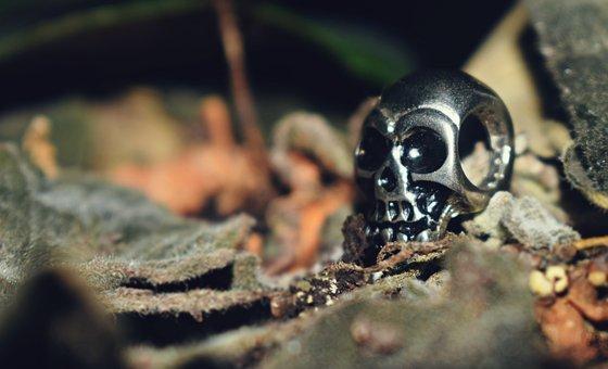 Skull Metal, Skull, Rock, Rock And Rool, Pendant