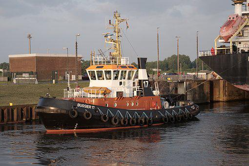 Shipping, Seafaring, Tug, Maritime, Bremen, Port