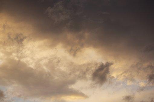 Sunset, Yellow, Clouds, Cloudscape, Nature, Landscape