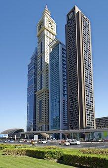 U A E, Dubai, Architecture, City, Building, Skyscraper