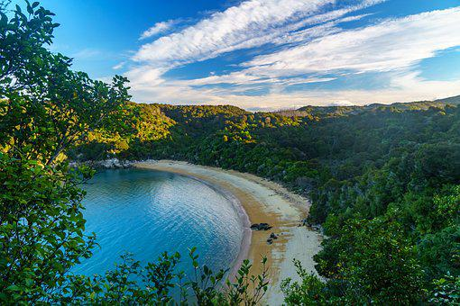 Abel Tasman, Threaten, Bay, Sea, Ocean, Beach