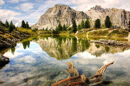 Lech Limides, Dolomites, Alm, Nature, Blue, Lake