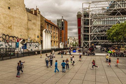 Paris, Centre Pompidou, France, Museum, Travel