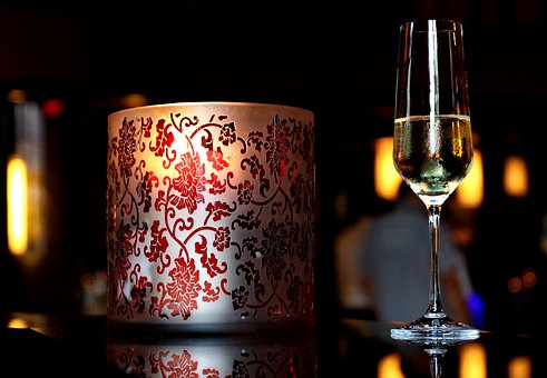 Candle, Champagne, Romantic