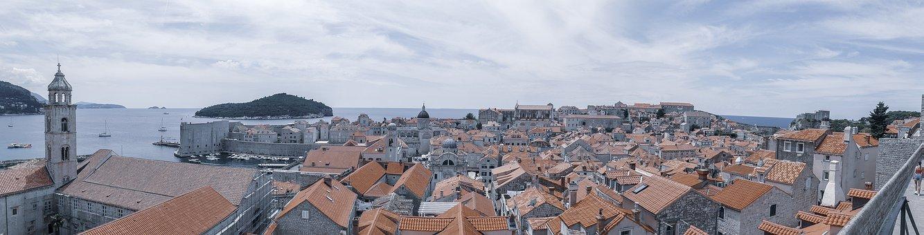 Dubrovnik, Croatia, City, Panorama, Skyline, Cityscape