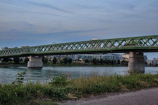 Bratislava, Slovakia, Old Bridge, Danube, Eurovea